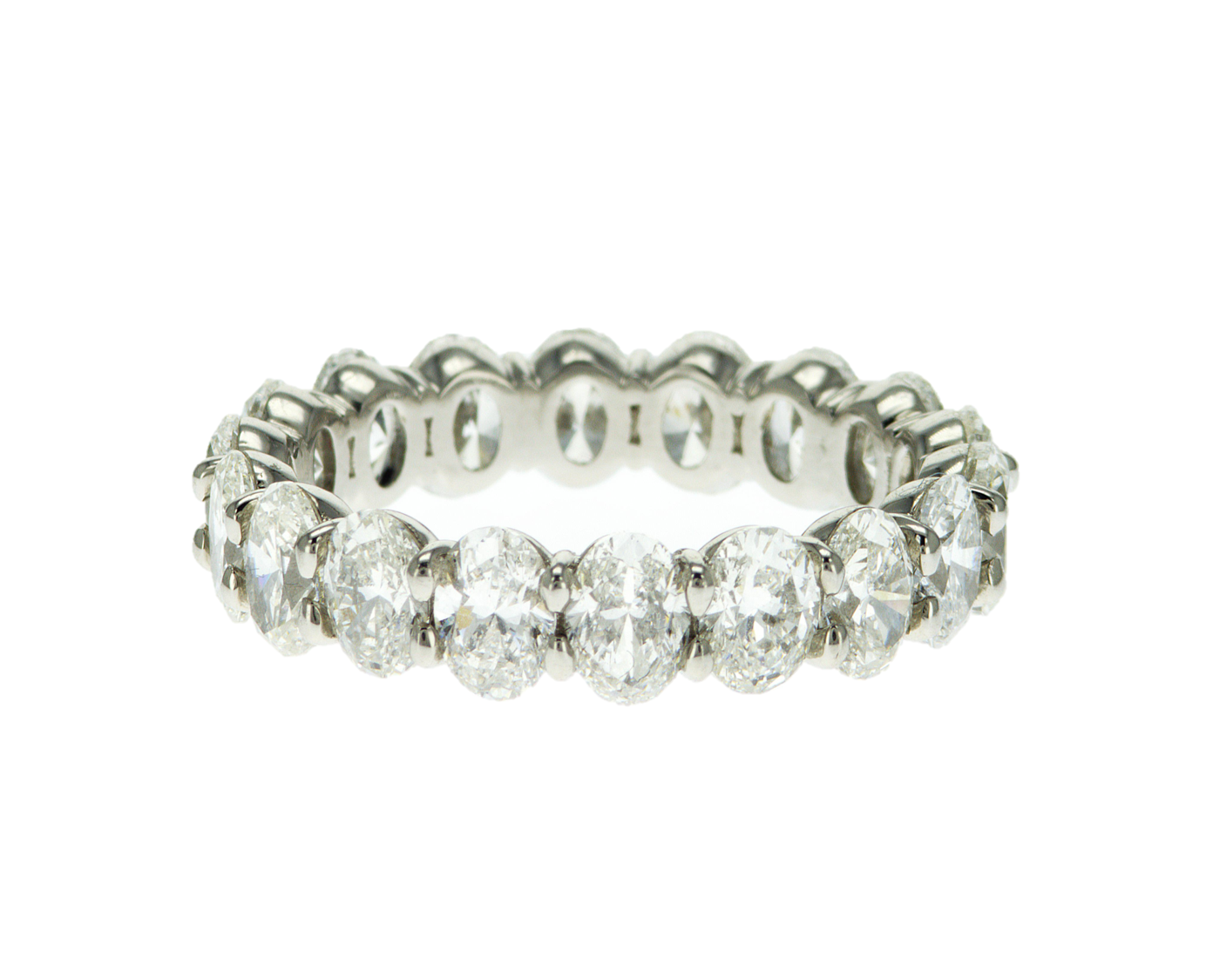 Custom Oval Diamond Eternity Band